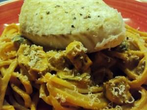Cod and chorizo pasta