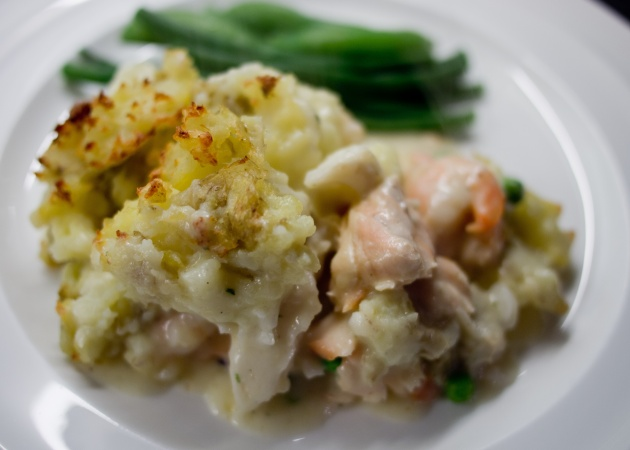 Fish Pie with easy cheese sauce