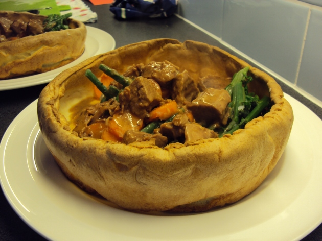 Giant filled Yorkshire pudding