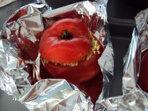 Stuffed roast tomato