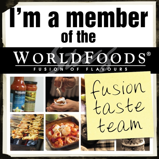 I'm a member of the Worldfoods Fusion Taste Team