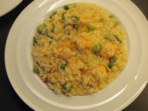 A plate of summer risotto