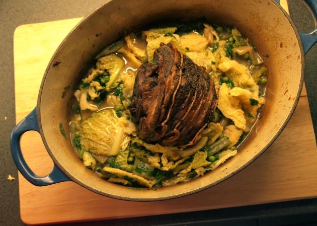 Pot roast mutton or lamb