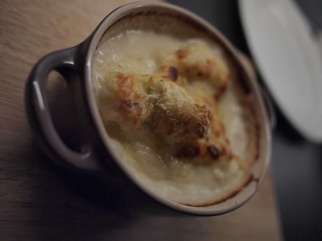 Close up cauliflower cheese