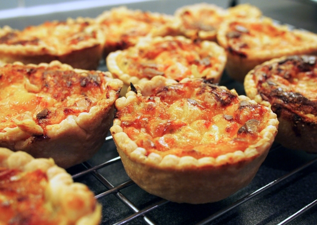 Onion tarts - fresh from the oven
