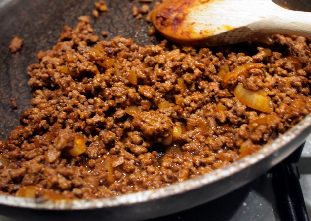 Mince and onion mix
