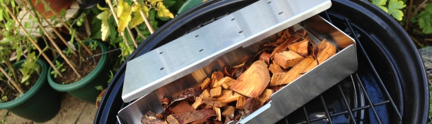 Smoker box and cherry wood chips