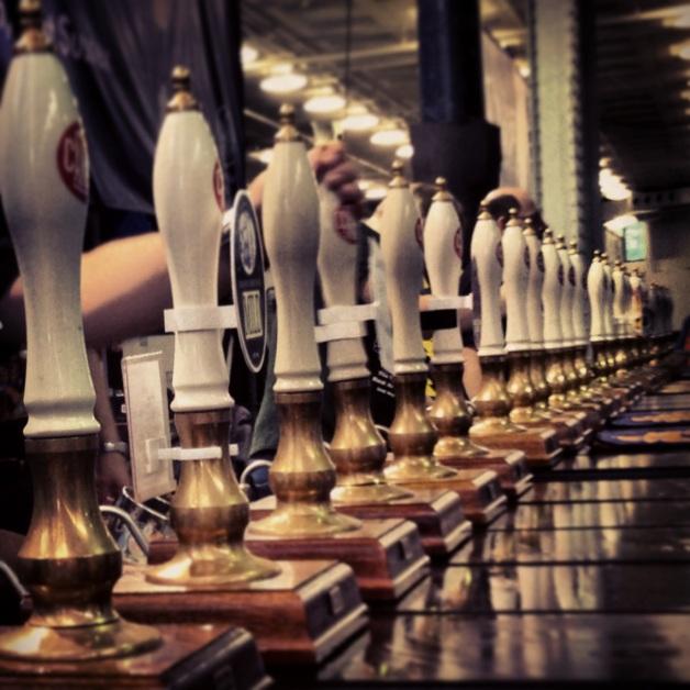 Beer pumps at the GBBF