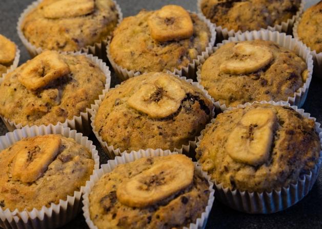 Banana nut muffins