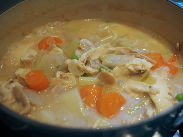 Chicken pie filling