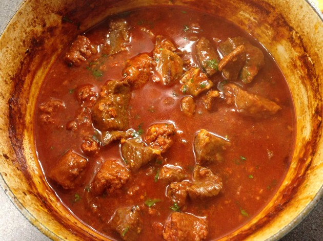 Beef and chorizo stew