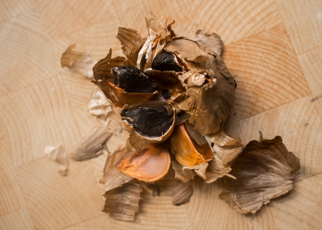 Black garlic from Sainsbury's